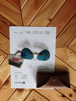 Ray Ban Oval Sunglasses blue