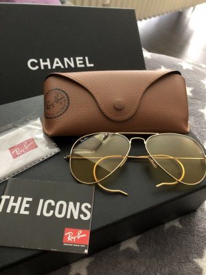 Ray Ban Aviator Kalichrome top Gold / Gelb Medium