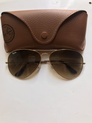 Ray Ban Butterfly Glasses gold-colored-light brown stainless steel