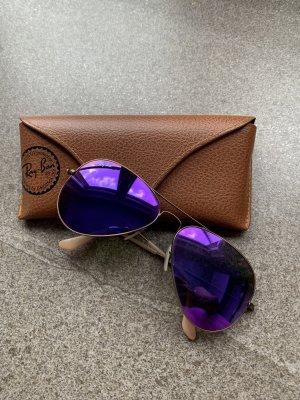Ray Ban Gafas de piloto color oro-violeta grisáceo metal