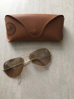 Ray Ban Aviator RB 3025 Sonnenbrille Pilotenbrille gold braun