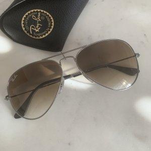 Ray Ban Pilotenbril zilver-lichtbruin