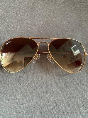 Ray ban Aviator sonnenbrille braun Gold