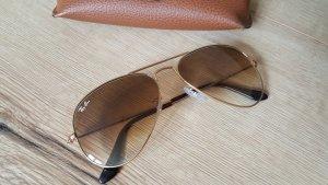 Ray Ban Aviator Sonnenbrille gold