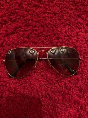 Ray ban Aviator sonnenbrille Gold braun