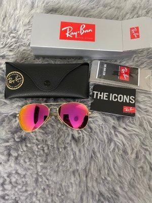 Ray Ban Gafas de piloto rosa-naranja vidrio
