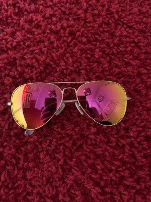 Ray ban Aviator Sonnenbrille pink verspiegelt