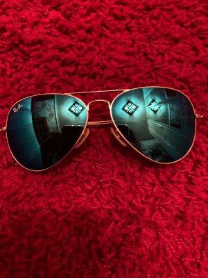 Ray ban Aviator Sonnenbrille verspiegelt blau