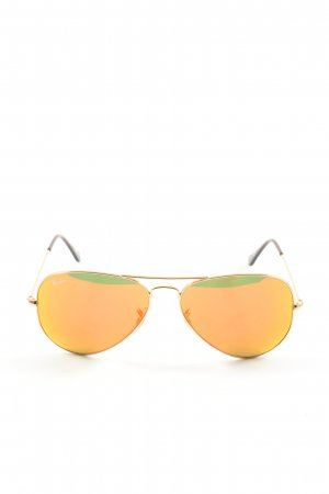 Ray Ban Pilot Brille goldfarben-braun Casual-Look