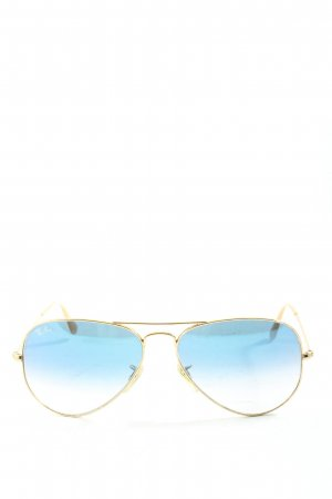 Ray Ban Brille goldfarben-blau Casual-Look