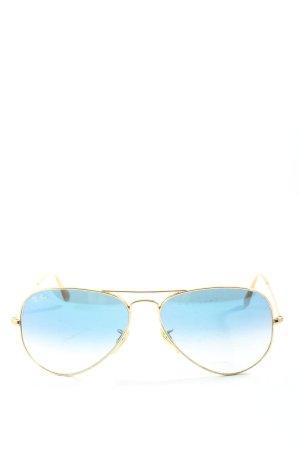 Ray Ban Brille goldfarben-blau Casual-Look