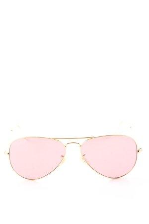 Ray Ban Gafas rosa-color oro look casual