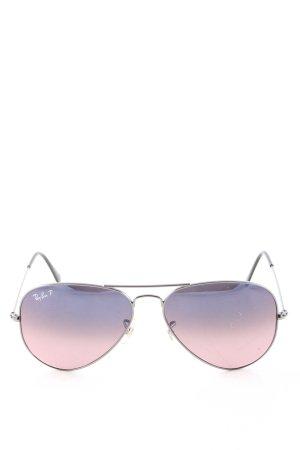 Ray Ban Gafas azul-rosa degradado de color look casual