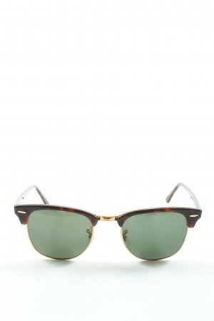 Ray Ban Glasses brown animal pattern casual look