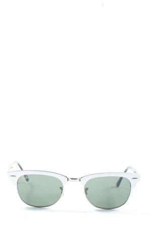 Ray Ban Gafas de sol cuadradas verde-blanco look casual