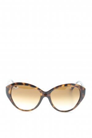 Ray Ban Butterfly Brille bronzefarben-wollweiß Allover-Druck Elegant