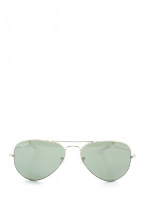 Ray Ban Pilot Brille silberfarben Casual-Look