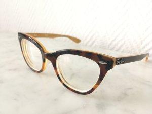 Ray Ban Cat-Eye Brille mit Sehstärke in havanna brown