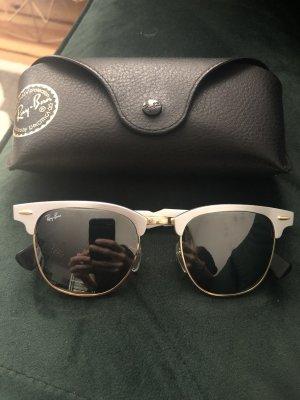 Ray Ban clubmaster Aluminium limitiert Silber Gold schwarz Sonnenbrille Blogger