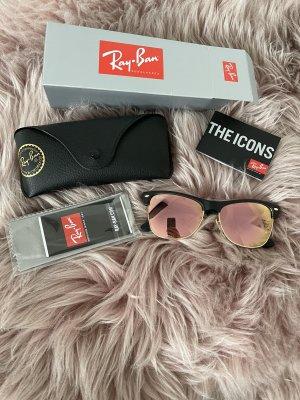 Ray ban clubmaster sonnenbrille verspiegelt rosa