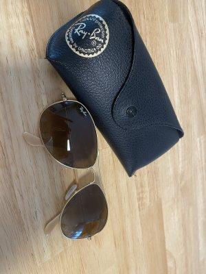 Ray Ban Owalne okulary przeciwsłoneczne jasnobrązowy-złoto