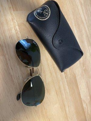 Ray Ban Owalne okulary przeciwsłoneczne ciemnozielony-złoto