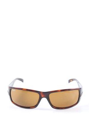 Ray Ban eckige Sonnenbrille schwarz-braun Farbverlauf Casual-Look