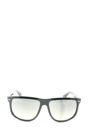Ray Ban Angular Shaped Sunglasses black casual look