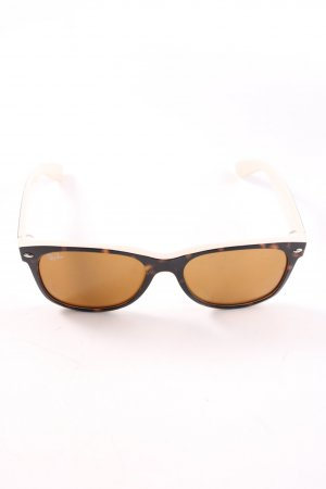 Ray Ban eckige Sonnenbrille nude-braun Casual-Look