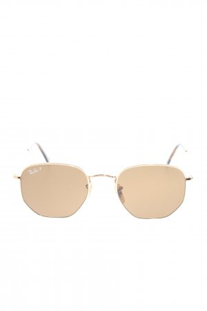 Ray Ban Gafas de sol cuadradas color oro look casual