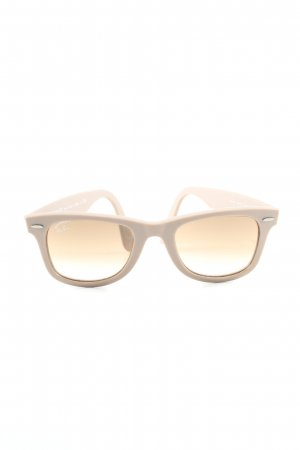 Ray Ban eckige Sonnenbrille wollweiß Casual-Look