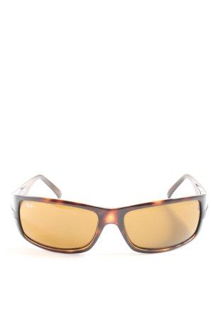 Ray Ban Gafas de sol cuadradas marrón-naranja claro look casual