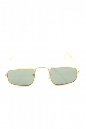 Ray Ban eckige Sonnenbrille goldfarben Casual-Look