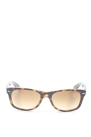Ray Ban Gafas de sol cuadradas negro-naranja claro letras impresas look casual
