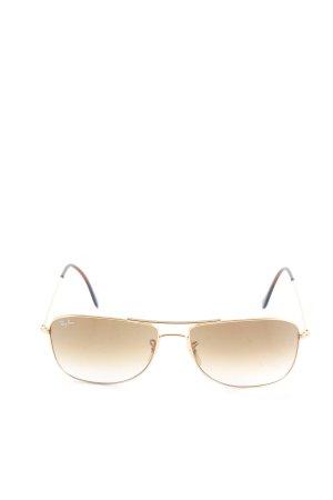 Ray Ban Gafas de sol cuadradas color oro look casual
