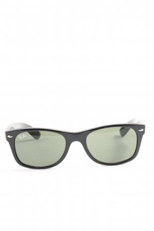 Ray Ban eckige Sonnenbrille schwarz Casual-Look