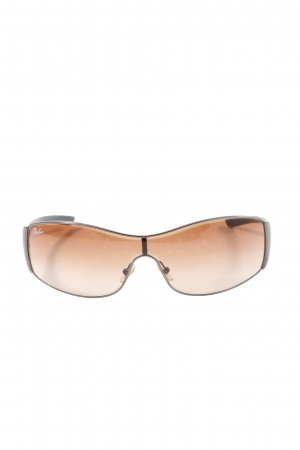 Ray Ban Retro Brille creme-schwarz Casual-Look