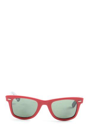 Ray Ban Gafas de sol cuadradas rojo-negro look casual