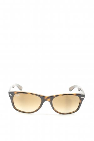 Ray Ban Occhiale da sole spigoloso nero-marrone motivo animale stile casual