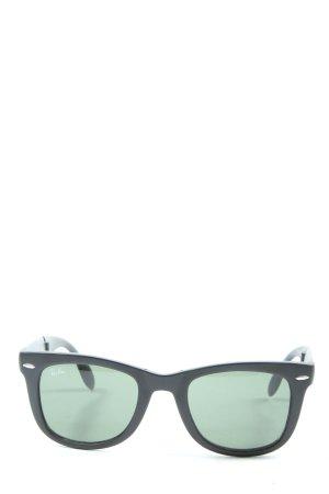 Ray Ban eckige Sonnenbrille schwarz-türkis Casual-Look