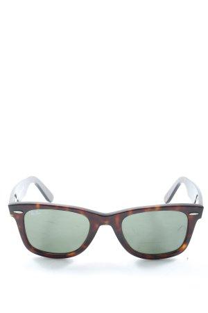 Ray Ban Gafas de sol cuadradas marrón-naranja claro estampado temático