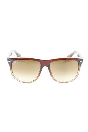Ray Ban Gafas de sol cuadradas rojo amarronado estilo clásico