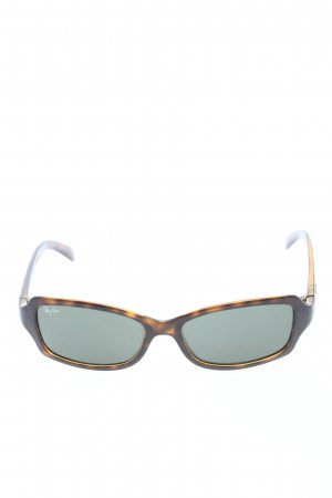 Ray Ban eckige Sonnenbrille braun Allover-Druck Casual-Look
