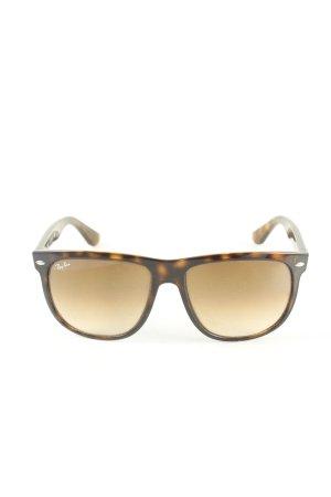 Ray Ban Gafas de sol cuadradas negro-marrón estampado con diseño abstracto