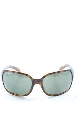 Ray Ban Angular Shaped Sunglasses brown-primrose allover print casual look