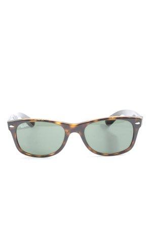 Ray Ban Angular Shaped Sunglasses black-brown allover print casual look