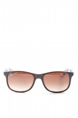 Ray Ban Hoekige zonnebril bruin casual uitstraling