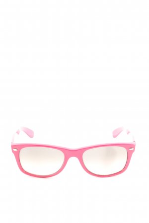 Ray Ban eckige Sonnenbrille pink Casual-Look