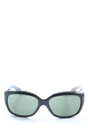 Ray Ban Angular Shaped Sunglasses black themed print casual look