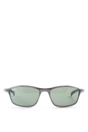 Ray Ban Hoekige zonnebril zwart casual uitstraling